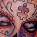 Tattoos - Day of the Dead Girl Tattoo with Puzzle Pieces - 69127